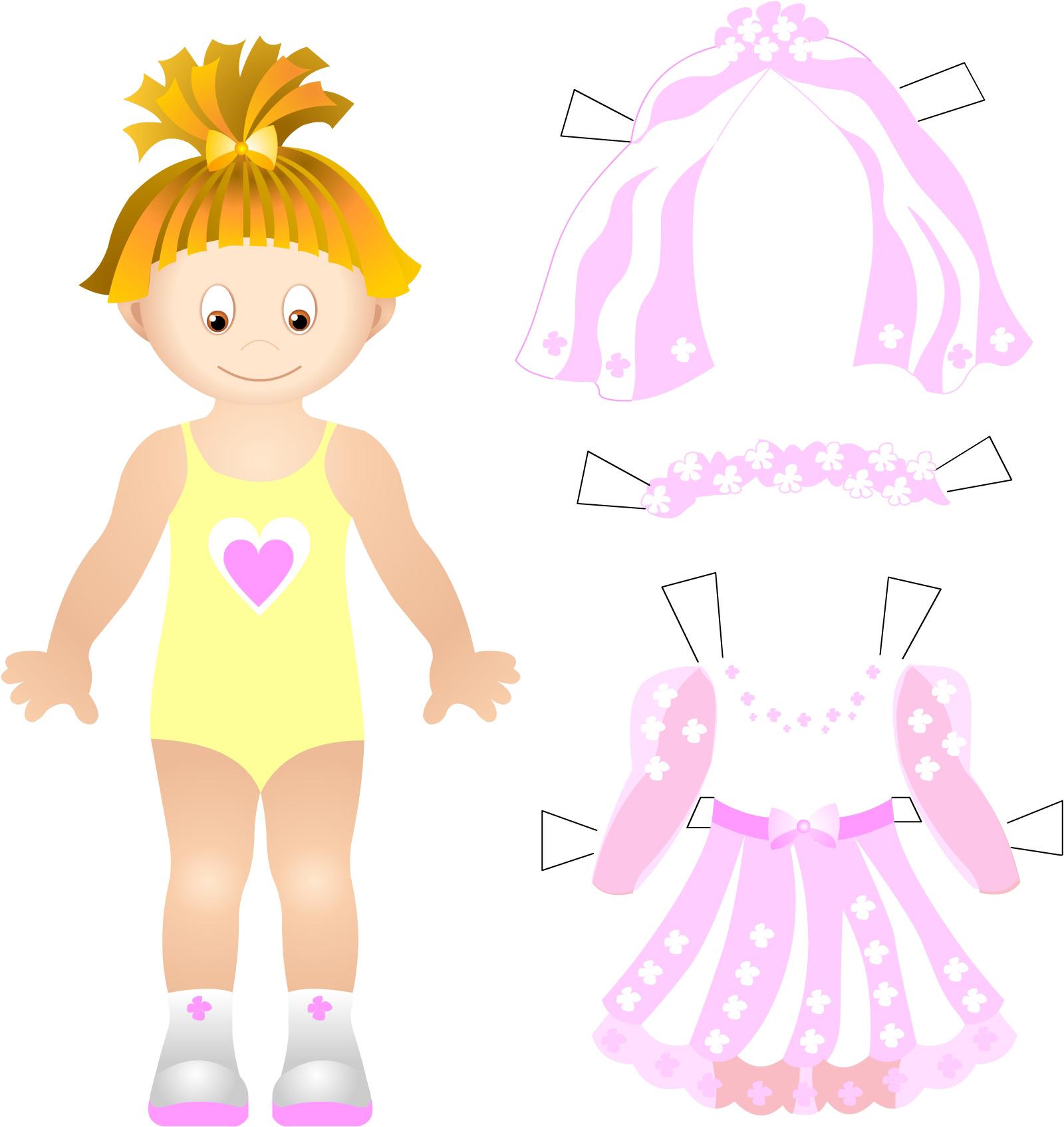 Весільне вбрання для паперової ляльки be8c66dd4a533
