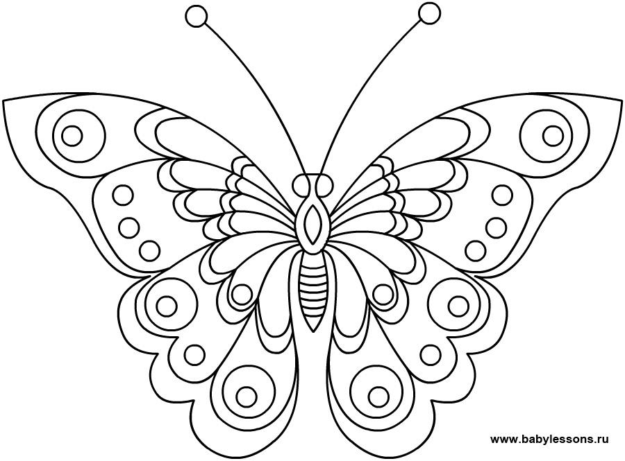 Раскраска бабочек раскрашивать